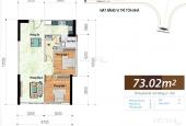 Cho thuê căn hộ 73m2 nhà trống hiện trạng CĐT giá 10tr/tháng. LH 0934 697 638