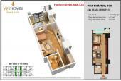 Bán cắt lỗ căn hộ 1PN 53m2 Times City giá 1.75 tỷ