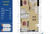 Căn hộ cần bán 219 Trung Kính, căn 01 tòa A dt 69.7m2, căn góc, giá bán: 34 triệu/m2