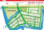 Chuyên đất nền dự án quận 9, khu dân cư Bách Khoa, Phường Phú Hữu, lô mặt tiền sông vị trí đẹp