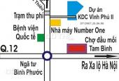 Bán đất nền KDC Vĩnh Phú 2, Tx Thuận An, Bình Dương. Giá chỉ từ 6,5 tr/m2
