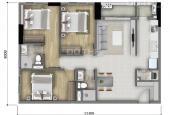 Cần bán căn hộ Botanica Premier, 3 phòng ngủ, 2WC, hướng Đông, 90m2, căn góc tầng 20