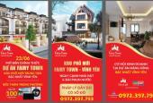 Bán đất nền 140m2 dự án Fairy Town, TP Vĩnh Yên, giá từ 14tr/m2, sổ đỏ đầy đủ, tặng 5 chỉ vàng