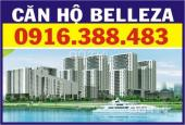 Bán căn hộ Belleza, ở ngay. DT 92m2, 2PN, 2WC, nội thất đầy đủ, giá 2.1tỷ. LH: 0916388483