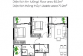 Cần bán căn hộ A3.11.14, căn hộ view công view và hồ nước Đông Nam