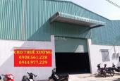 Cho thuê nhà xưởng DT: 700m2, giá 23 tr/tháng, phường Thạnh Xuân, quận 12