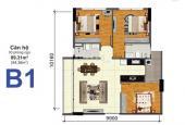 Bán căn góc suất thương mại chung cư Bộ Công An, Q2, block A, 94m2, 3 PN, full nội thất view thoáng