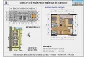 Cần bán chung cư Thanh Hà Cienco 5, DT 69.92m2, 2 phòng ngủ, view hồ, giá gốc 12 triệu/m2