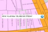 Bán đất 978m2, thổ cư sổ riêng, mặt tiền đường xã Tam An