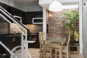 Nhà mới xây 100%, thiết kế cực đẹp, sân thượng 2 mặt, màu trang trọng, cầu thang kính