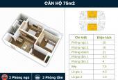 Bán căn hộ tầng 18, 70.75 m2, 2 PN, view hồ Linh Đàm
