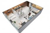Bán căn hộ thông minh 1 phòng ngủ tại dự án Golden King, DT 37m2, giá 1.9 tỷ