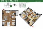 Cần thu hồi vốn bán gấp căn góc 03 tòa NO1A, dự án K35 Tân Mai, 0945825512