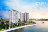 Penthouse Conic, MT Tạ Quang Bửu, 120m2 + 45m2 sân vườn, view sông 03 PN. Giá CĐT, LH 0906.848.880
