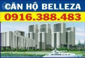 Bán căn hộ Belleza, 105.18m2, 3PN, 2WC, thanh toán 2.3 tỷ, giá tốt. LH: 0916388483