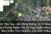 Khu tái định cư quận Bình Tân, 625 triệu/nền, sổ hồng riêng, sang ngay, LH: 0931332928