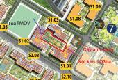 Bán căn hộ 2PN ban công Đông Nam Vinhomes Gia Lâm, view nội khu 1,03ha, giá 1.681 tỷ. LH 0943357644