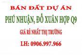 Bán đất Phú Nhuận Phước Long B, Đỗ Xuân Hợp Q9, rẻ hơn thị trường, 280m2. LH: 0906997966