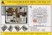 Bán căn góc Đông Nam, 3 ngủ HH Linh Đàm, giá 1,23 tỷ, full nội thất