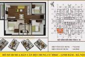 Chính chủ bán căn chung cư góc 3 phòng ngủ, diện tích 76.27m2, tòa HH4C Linh Đàm