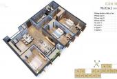 Bán căn 3PN ban công ĐN view hồ, full nội thất cao cấp liền tường Anland Lake View, LH 0983983448