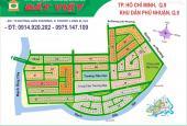 Bán gấp đất biệt thự dự án Phú Nhuận, P. Phước Long B, Quận 9, lô E, DT 14x20m