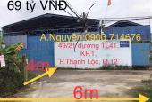 Chính chủ cần bán nhà xưởng 49/xx đường TL41, KP.1, Phường Thạnh Lộc, Quận 12, Tp. HCM
