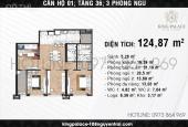 Cắt lỗ: 2103 124m2 - 3PN chung cư King Palace 108 Nguyễn Trãi siêu đẹp chỉ 35tr/m2 LH: 0981274507