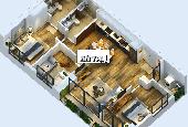 Bán căn hộ DT 90m2, 3 ngủ, 2VS, ban công Đông Nam, đầy đủ nội thất, tầng thấp, giá 2 tỷ 200tr