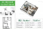 Bán căn 2 PN 72.84m2 hướng Đông Nam view Vinhomes tại Eco City Việt Hưng chỉ 2,082 tỷ đã có sổ