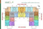 (0782406773) bán cắt lỗ CH Eco Lake View Hoàng Mai: 1211 (69m2) giá 1.9 tỷ, 2206 (103m2)