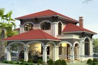 Thiết kế biệt thự 2 tầng mang phong cách tân cổ điển