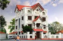 Thiết kế biệt thự 3,5 tầng mang phong cách cổ điển