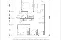 Tư vấn thiết kế căn hộ gần 58m2 cho gia chủ mệnh Kim