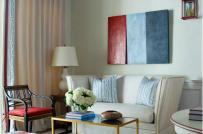 3 màu đỏ - trắng - xanh cho không gian nhà đẹp chào hè