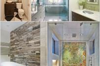 Gợi ý trang trí tường phòng tắm ấn tượng