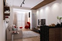 Căn hộ có diện tích chỉ 30m2, nhưng thiết kế nội thất và không gian sống thì