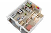 9 mẫu căn hộ 3 phòng ngủ đẹp, tiện nghi cho gia đình đông người