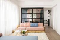 Mê mẩn vẻ đẹp của căn hộ 30m2 sử dụng gam màu hồng pastel nữ tính