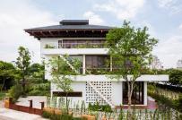 Ngôi nhà bậc thang pha kiến trúc Nhật bất chấp thời tiết nóng ẩm của miền Bắc