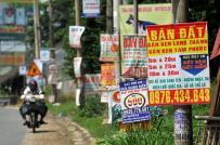 Chính quyền cắm biển khuyến cáo không nên mua bán đất quanh sân bay Long Thành