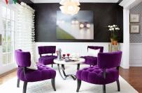 Những cách sử dụng màu tím trong thiết kế nội thất