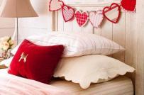Trang trí phòng ngủ ngọt ngào nhân dịp Lễ tình nhân