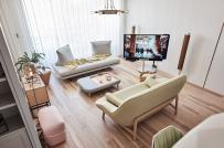 Vẻ đẹp cuốn hút của căn hộ có nội thất màu pastel