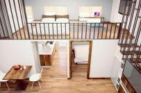 Căn hộ diện tích 35m² vẫn bố trí được 2 phòng ngủ khiến nhiều người ao ước