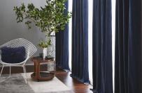 Lý do bạn nên lựa chọn rèm cửa màu xanh lam cho những ngôi nhà có thiết kế hiện đại