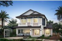 Những mẫu nhà phố 2 tầng mái Thái khiến người xem mê mẩn