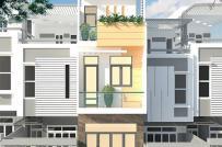 Thiết kế nhà 2 tầng có sân thượng với kinh phí 640 triệu đồng