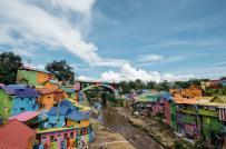 Ngôi làng cầu vồng rực rỡ ở Indonesia