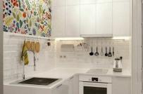 Đón hè sang với ý tưởng làm mới phòng bếp từ giấy dán tường